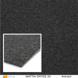 mattia office 33, antracit.textilplatta
