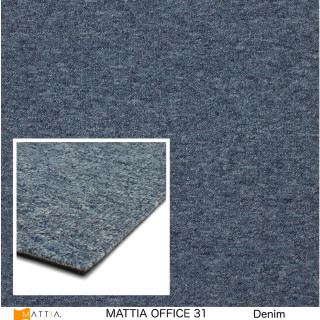 office 31 mattia, denim, textilplatta